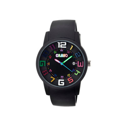 Crayo Women's Festival Black Silicone-Band Watch with Date Cracr2006