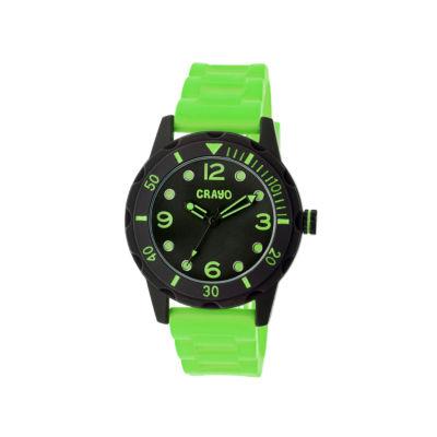 Crayo Unisex Splash Lime Strap Watch Cracr2206