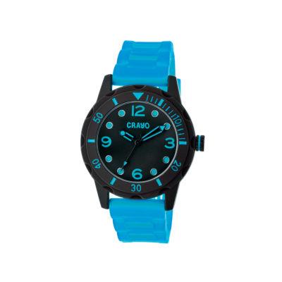 Crayo Unisex Splash Blue Strap Watch Cracr2207