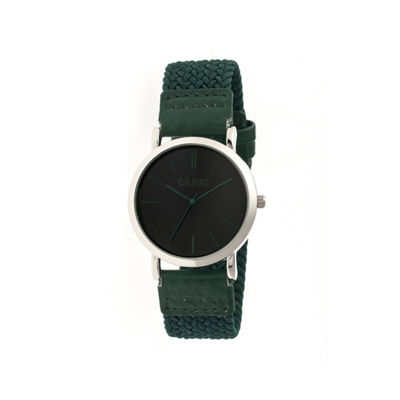 Crayo Unisex Symphony Olive Nylon-Band Watch Cracr2703