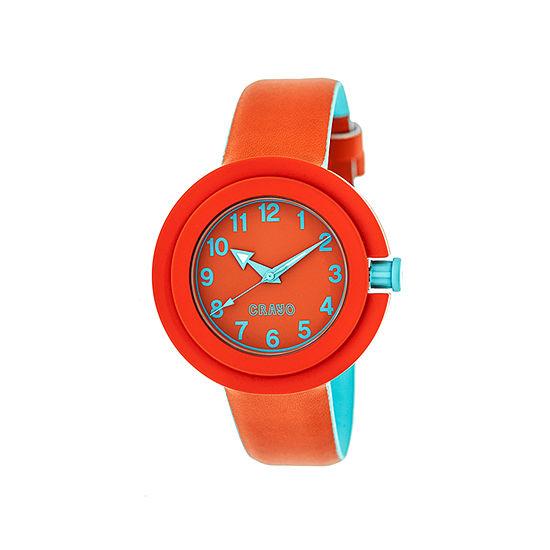 Crayo Womens Equinox Red Strap Watch Cracr2801