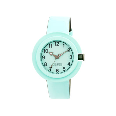 Crayo Womens Equinox Powder Blue Strap Watch CRACR2804