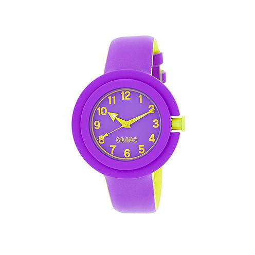 Crayo Womens Equinox Purple Strap Watch CRACR2807