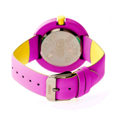 Crayo Womens Equinox Purple Strap Watch CRACR2807