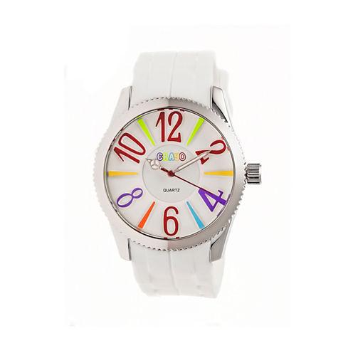 Crayo Womens Magnificent White Strap Watch CRACR2902