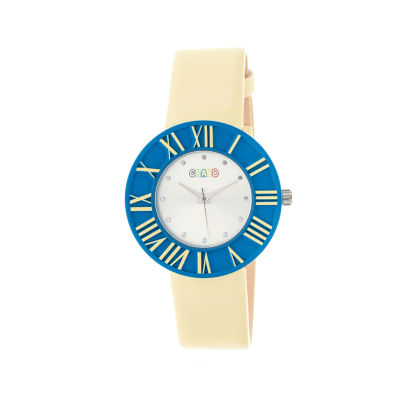 Crayo Womens  Prestige Eggshell Strap Watch Cracr3106