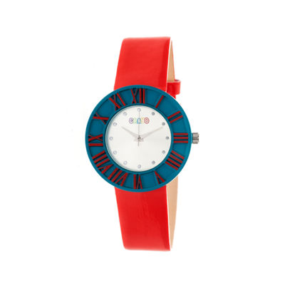 Crayo Womens  Prestige Red Strap Watch Cracr3107