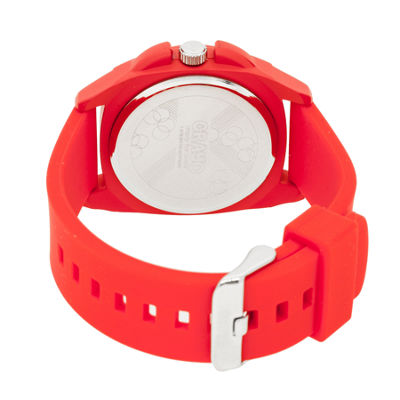 Crayo Sunset Red Silicone-Band Watch With Date Cracr3304
