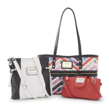 jcpenney.com | nicole by Nicole Miller® Chevron Handbag and Wallet Collection