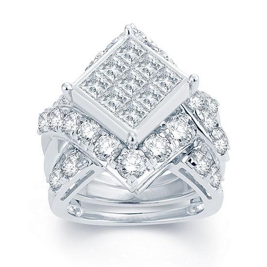 5 CT. T.W. Diamond 14K White Gold Multi-Top Engagement Ring