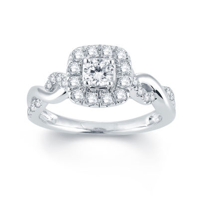 Modern Bride Signature 3 4 CT T W Diamond 14K White Gold