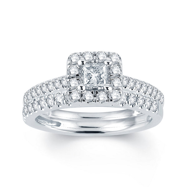 Modern Bride Signature 1 CT T W Diamond 14K White Gold
