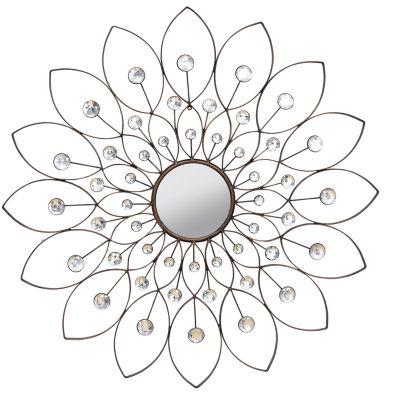 Stratton Home Décor Decorative Flower Mirror