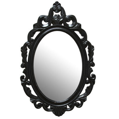Stratton Home Décor Black Baroque Mirror