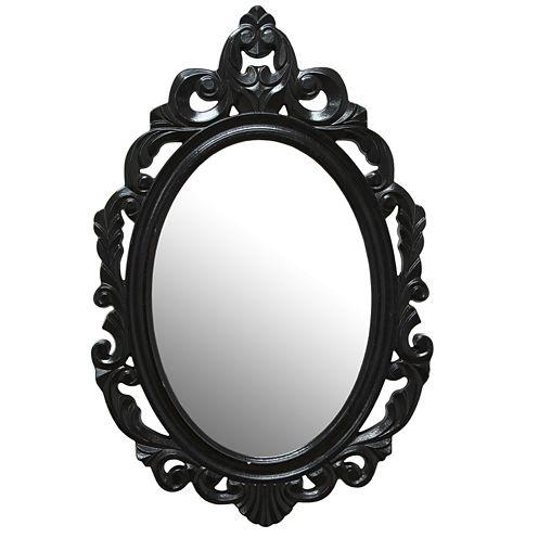 Stratton Home Décor Black Baroque Mirror