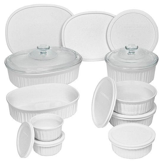 CorningWare® French White® 18-pc. Bakeware Set