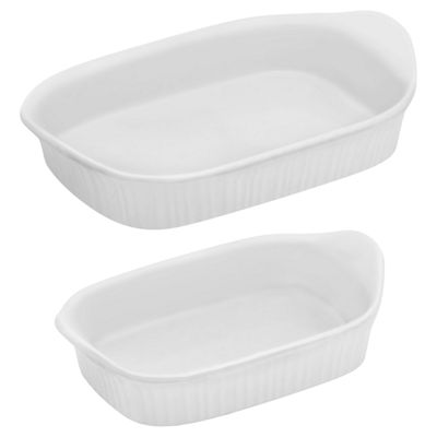 CorningWare® French White® lll 2-pc. Rectangular Bakeware Set