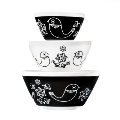 Vintage Charm™ Inspired by Pyrex® Birds of a Feather 3-pc. Mixing Bowl Set