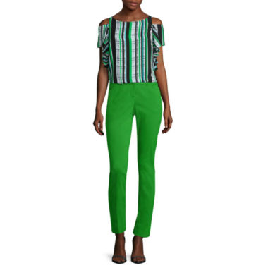 jcpenney.com | Worthington® Cold Shoulder  Ruffle Blouse or Slim-Fit Ankle Pants