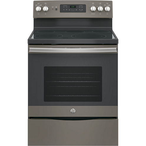 """GE® 30"""" 5.3 cu. ft. Free-Standing Electric Convention Range"""