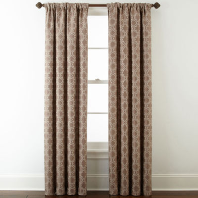 Royal Velvet® Octavia Jacquard Rod-Pocket/Back-Tab Curtain Panel
