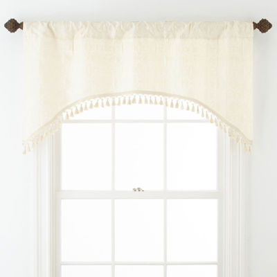 Royal Velvet® Octavia Arch Rod-Pocket/Back-Tab Valance