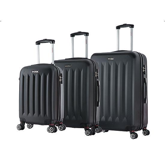 InUSA Philadelphia Lightweight Hardside Spinner 3-pc Luggage Set