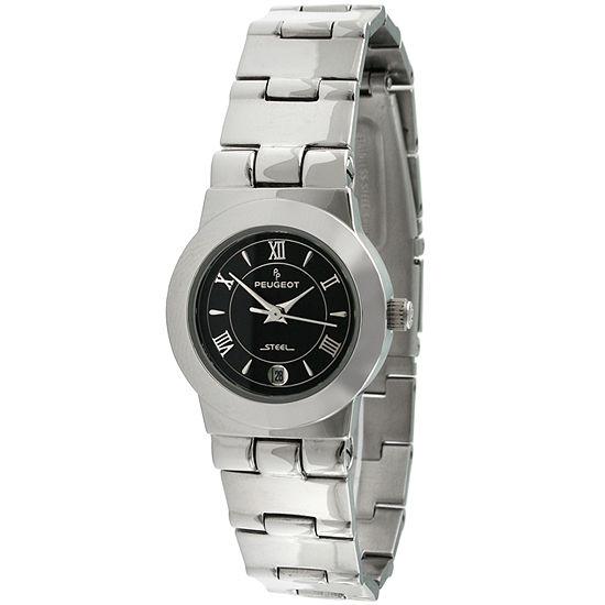 Peugeot Womens Silver Tone Stainless Steel Bracelet Watch-145l