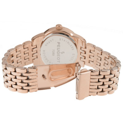 Peugeot Womens Rose Goldtone Bracelet Watch-7089rg
