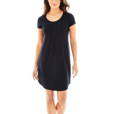 Ambrielle Jersey Short Sleeve Nightshirt-Plus