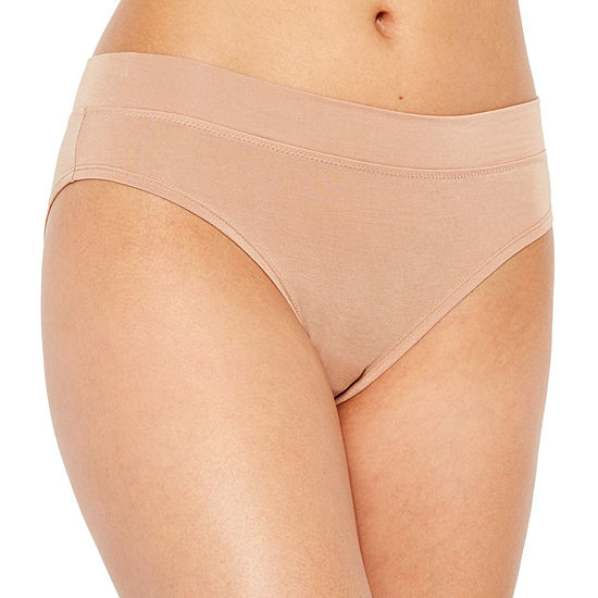 Ambrielle® Cotton Modal Hi Cut Panties