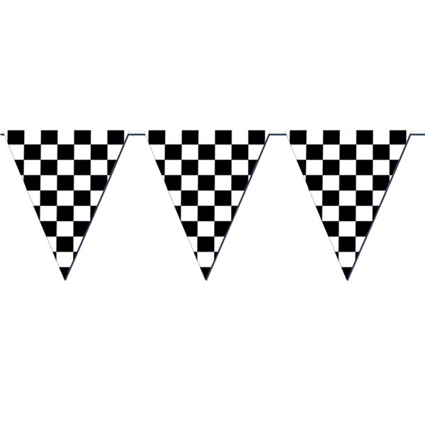 120' Checkered Outdoor Pennant Banner