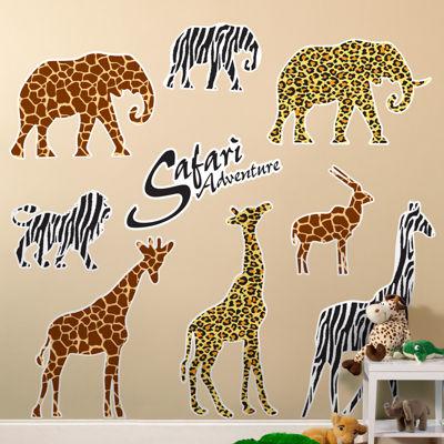Safari Animal Adventure Giant Wall Decorations