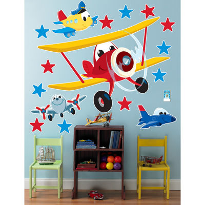 Airplane Adventure Giant Wall Decals