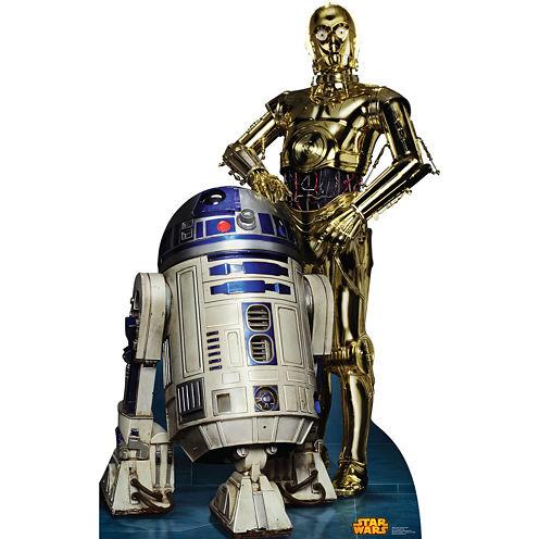 Star Wars R2D2 & C3PO Standup - 6' Tall