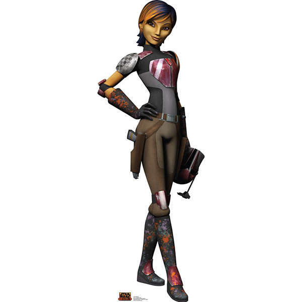 Star Wars Rebels Sabine Wren Stand Up - 5' Tall