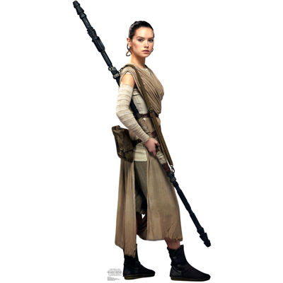 Star Wars 7 The Force Awakens Rey Standup - 6' Tall