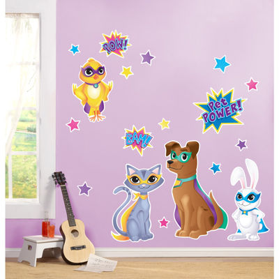 Super Hero Pets Giant Wall Decal