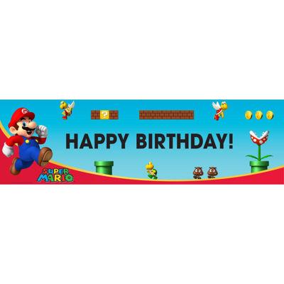 Super Mario Bros. Birthday Banner