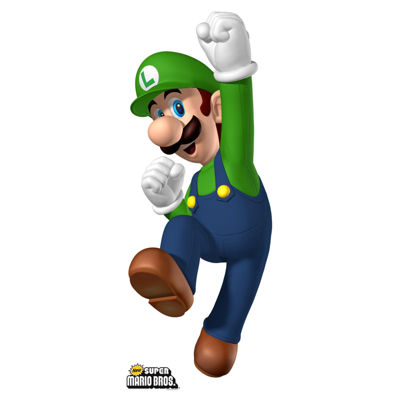 Super Mario Bros. Luigi Standup - 5' Tall