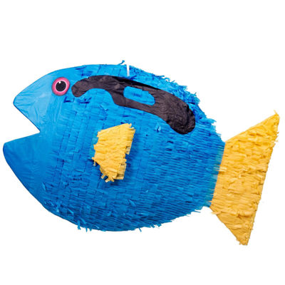 Blue and Yellow Fish Pinata