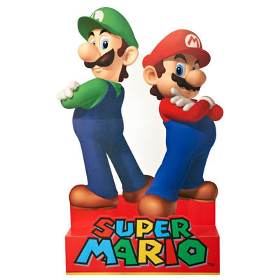 Super Mario Party - Mario & Luigi Standup - 5' Tall