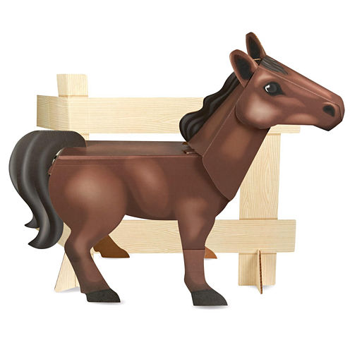 Ponies - Standup Brown Pony - 4' Tall