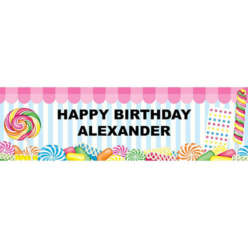 Candy Shoppe Birthday Banner