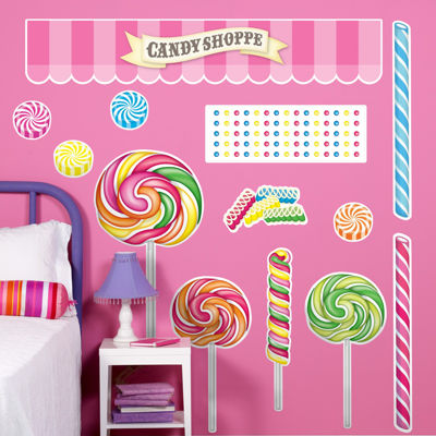 Candy Shoppe Giant Wall Decals