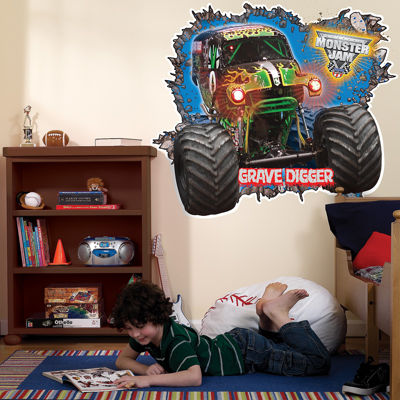Monster Jam 3D Giant Wall Decals