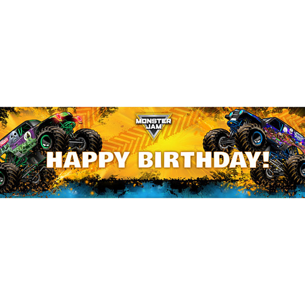 Monster Jam Birthday Banner