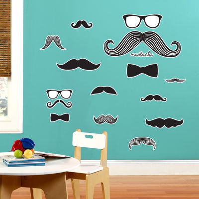 Mustache Giant Wall Decal