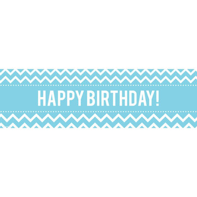 Chevron Black Birthday Banner