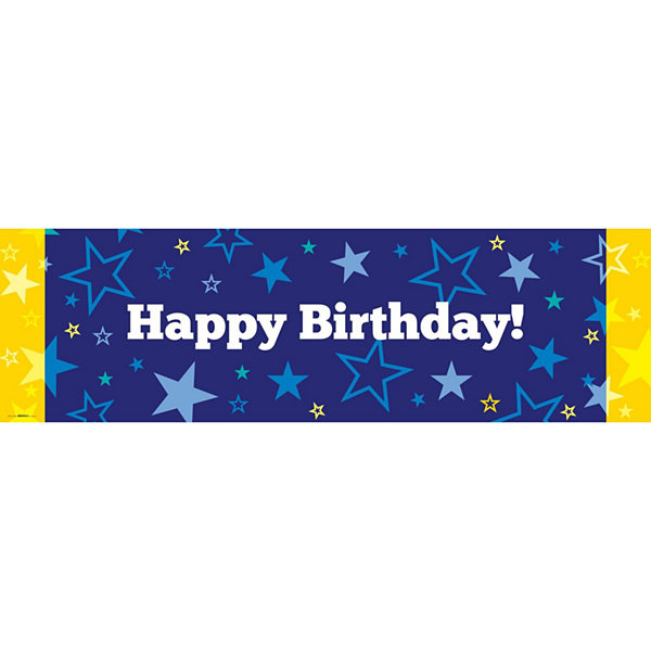 Seeing Stars Banner - Yellow & Blue